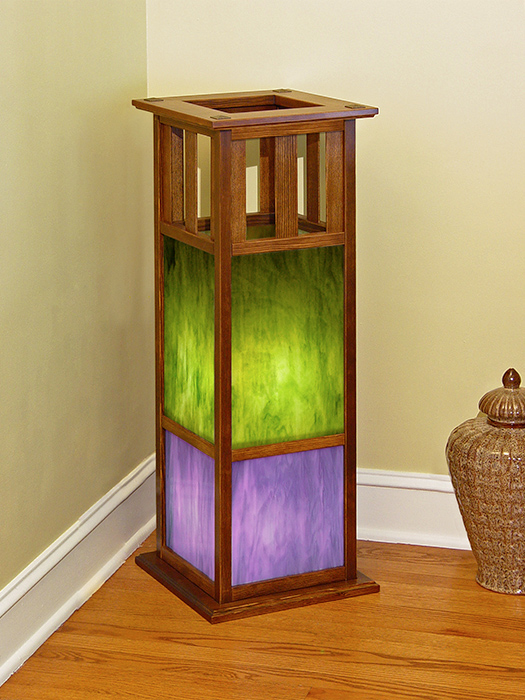 Arts & Crafts Floor Lamp–Recycled Douglas Fir