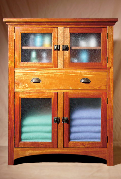 Genuine Mahogany Bathroom Cabinet