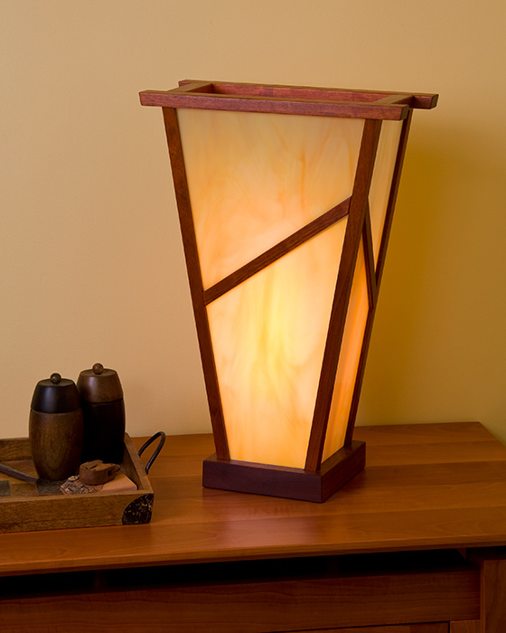 Jatoba & Stained Glass Lamp