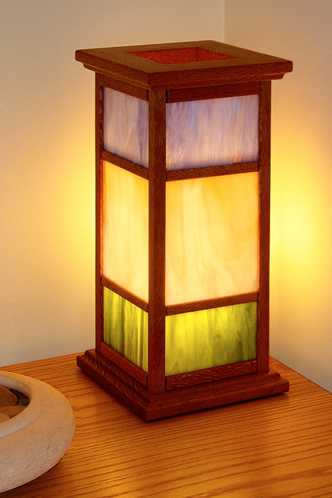 Lacewood Arts & Crafts Lamp