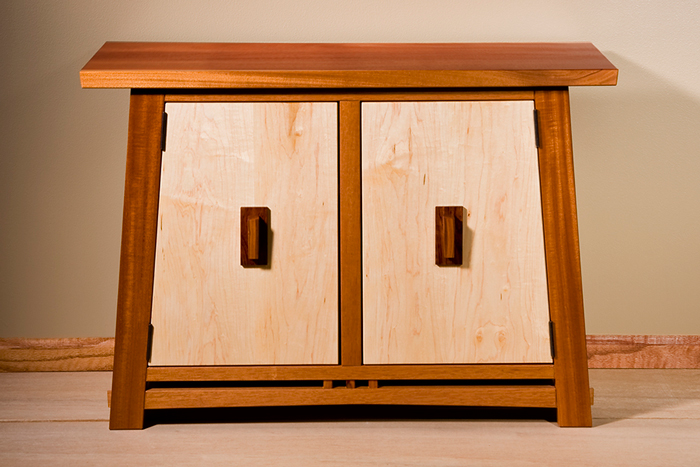 Mahogany & Maple Cabinet
