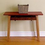 Padauk, White Oak, & Walnut Entrance Sofa Table by Bill First WoodWorks