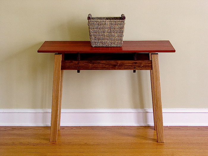 Padauk, White Oak, & Walnut Entrance Sofa Table