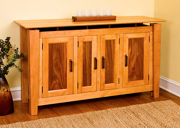 Pear Sideboard with Black Walnut & Jatoba