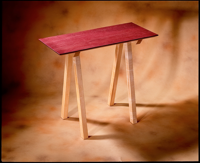 Purpleheart & Natural Maple Table