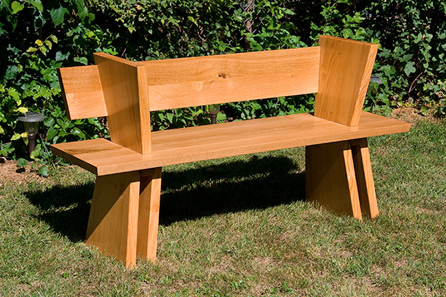 Quarter Sawn White Oak & Honey Locust Bench