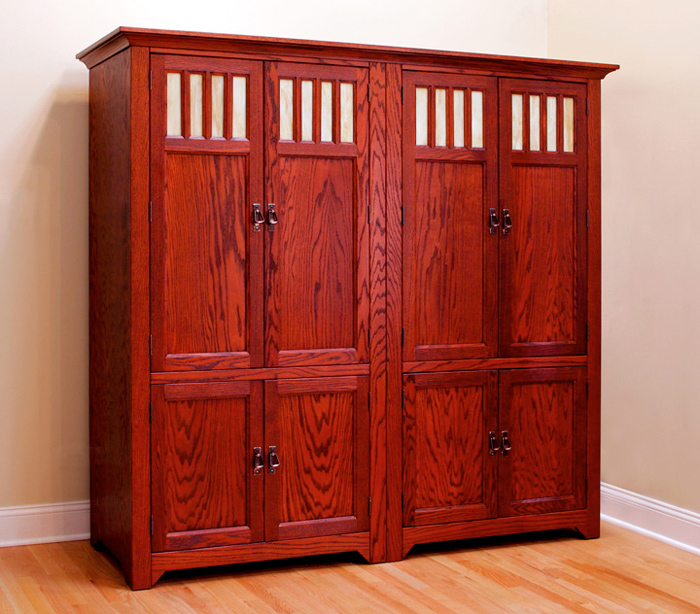 Red Oak Cabinets with Black Cherry Stain