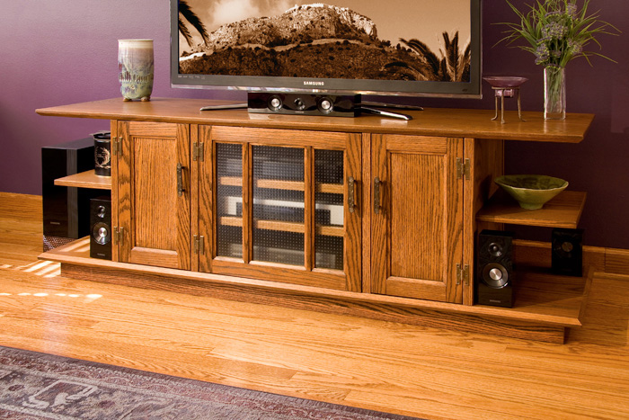 Red Oak TV Console