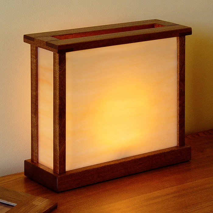 Sapele Arts & Crafts Lamp