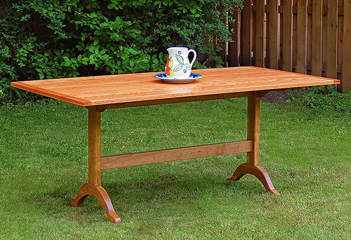 Shaker Style Cherry Dining Table–Full View