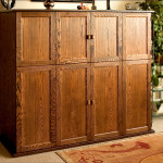 Solid Ash Entertainment Center–Outside View by Bill First WoodWorks