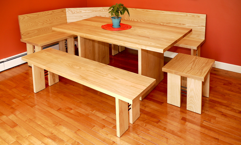 Six-Piece Solid-Ash Breakfast-Nook