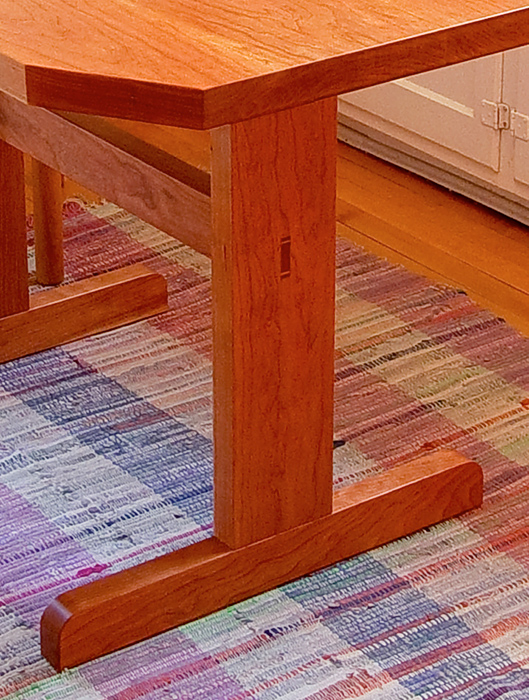 Solid Cherry Kitchen Table–Close up