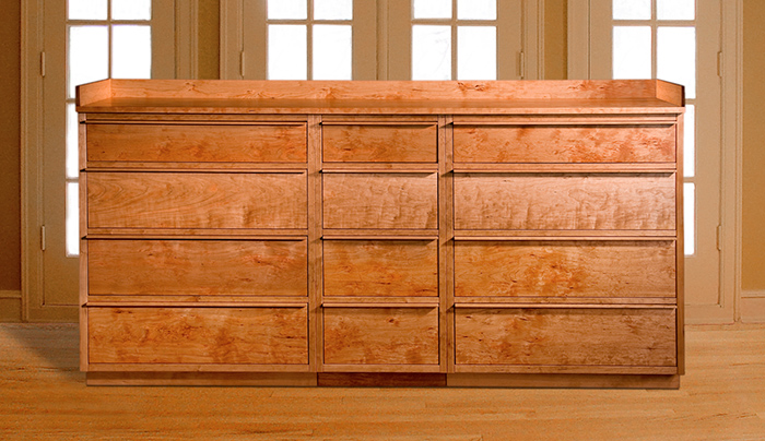 Twelve Drawer Cherry Dresser