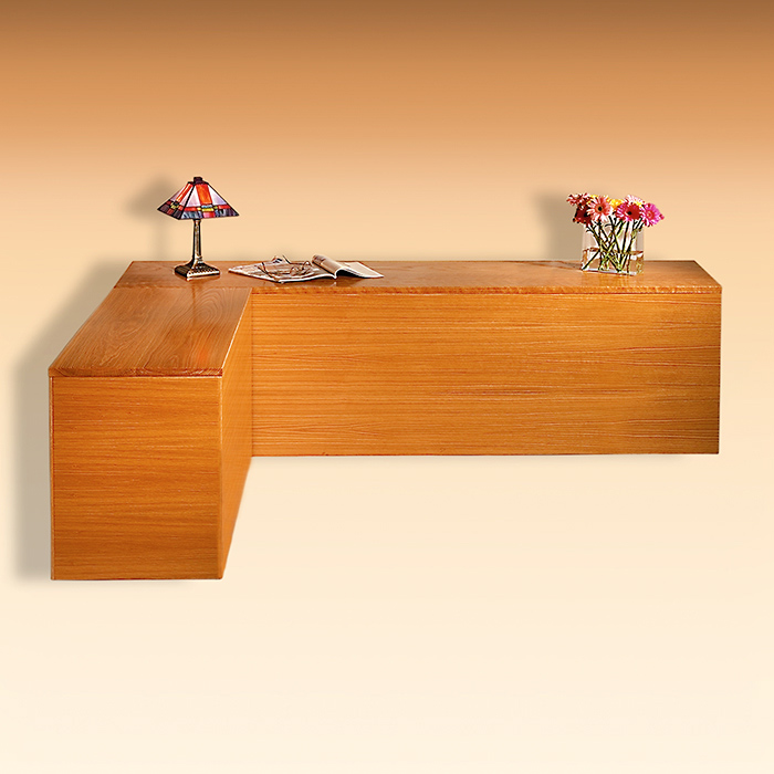 White Oak Bed Headboard and Sideboard (Queen)