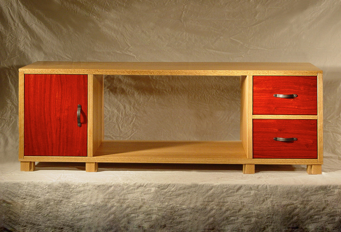 White Oak & Padauk Bookcase