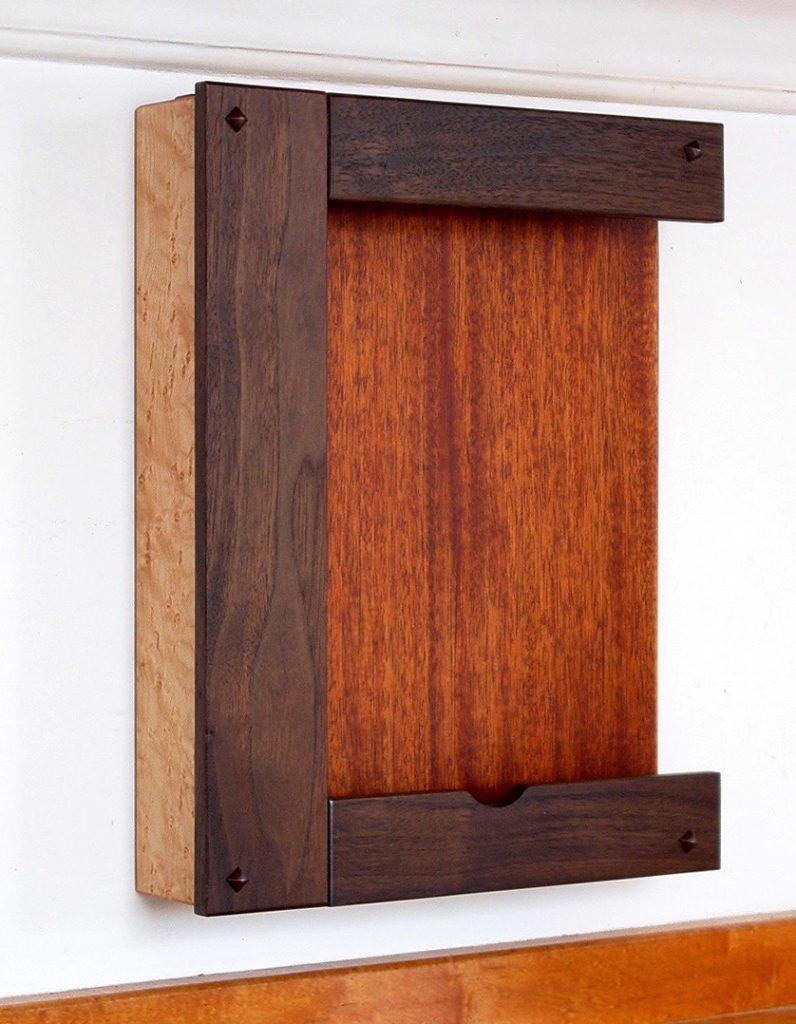 Walnut, Mahogany & Bird's Eye Maple iPad Holder